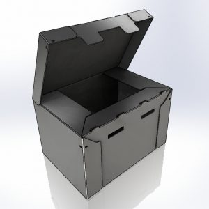 Correx Box with open lid