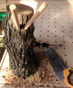 Stump with boot supports